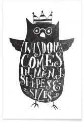 wisdom comes in many shapes and sizes - Premium Poster