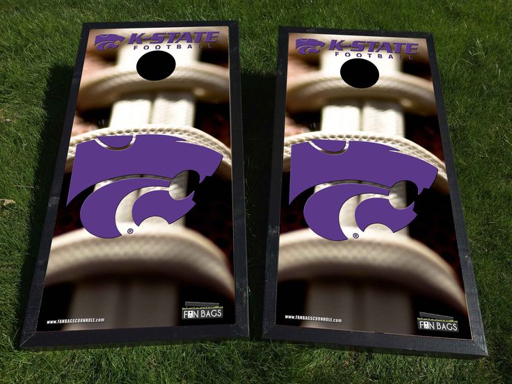 Kansas State football cornhole set