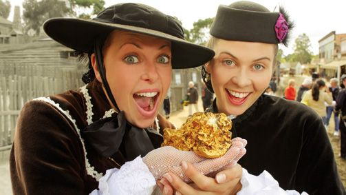 Pan for your own gold at Sovereign Hill, Ballarat, Goldfields, Victoria, Australia