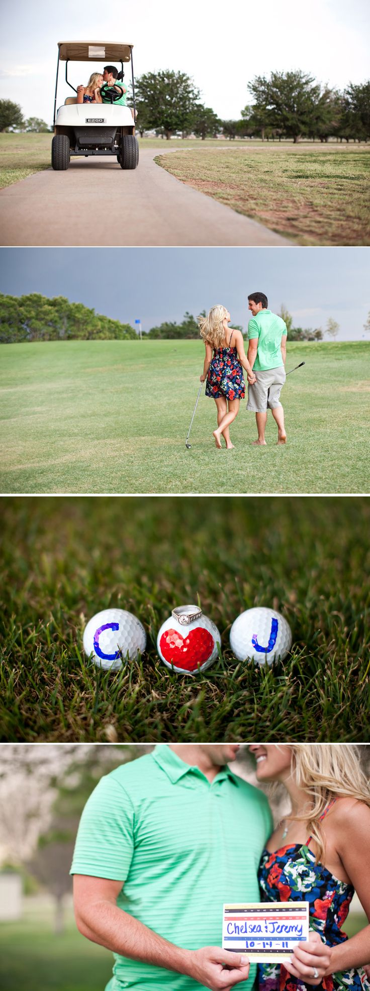 We should have done a few engagement pictures on the golf course since that is where he proposed!