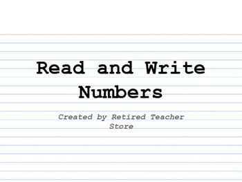 This is a third grade entry for an interactive notebook dealing with reading and writing numbers up to 10,000 in standard, word form, expanded form, and model form. Created by Retired Teacher Store at https://www.teacherspayteachers.com/Product/Read-and-Write-Numbers-INB-2715947