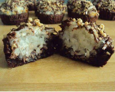 Almond Joy Brownie Bites