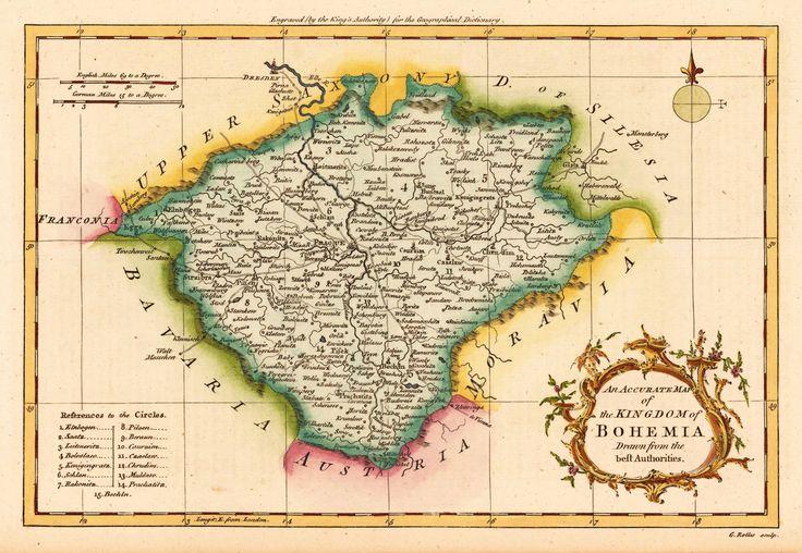 Map of Bohemia 1756