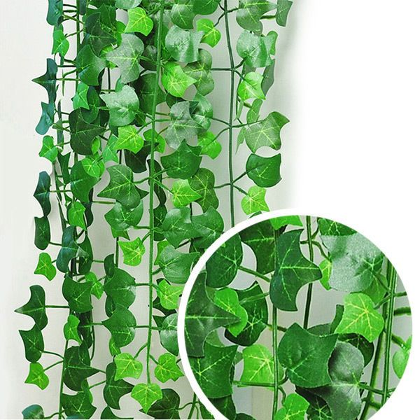 8.2feet Green Artificial Ivy Leaf Garland Plants Vine Fake Foliage Flowers Home .99 cents!!!