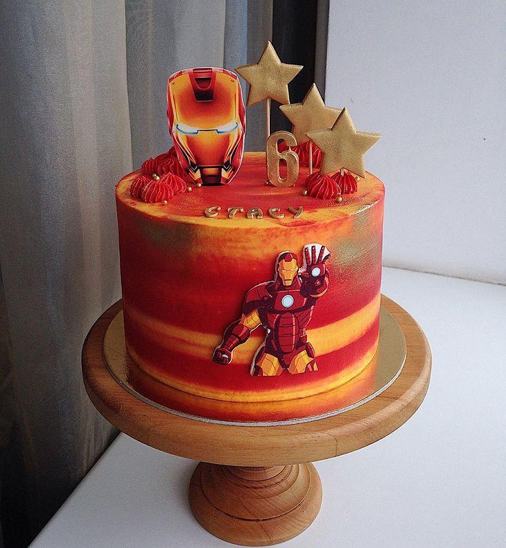 Железный человек фото на торт