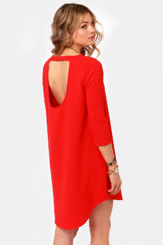 Image result for red shift dress