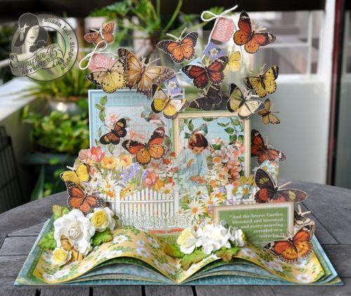 Susan Lui Graphic 45 Secret Garden Gift Book 3-D Spring Easter