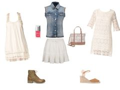 white lace and jean by glami