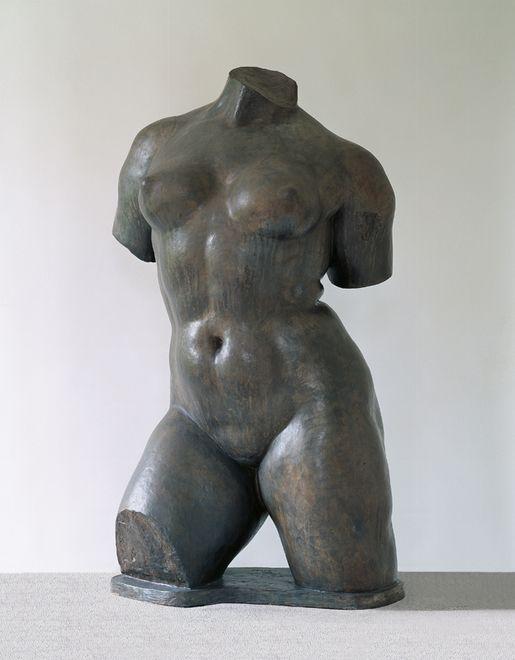 "Aristide Maillol, Large Female Torso: Study for ""Acion in Chains"" 1907, Lead, 121 x 65 x 57 cm"