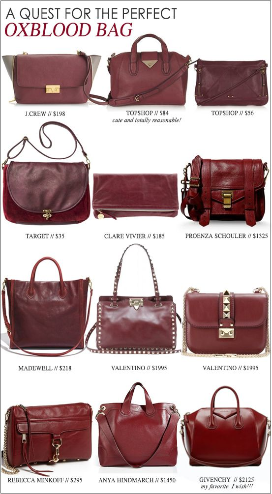 My Quest For The Perfect Oxblood Bag
