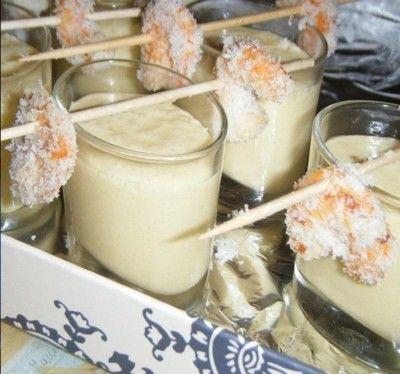 Recette - Smoothie mangue et ses crevettes panées à la coco | 750g