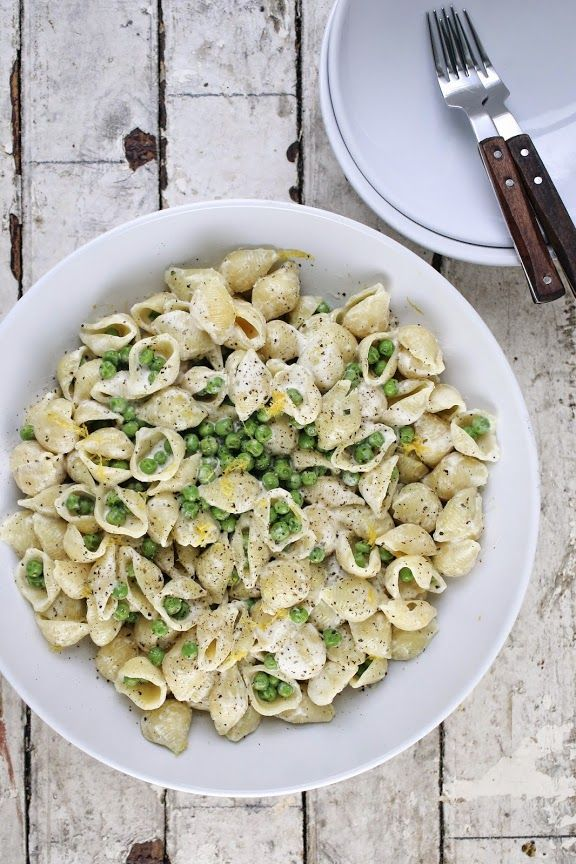 A CUP OF JO: Boursin Pasta With Spring Peas