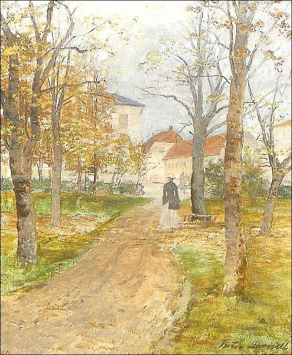 Victor Forssell (1846-1931): Motiv från Vadstena, 1890