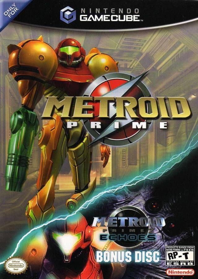 Metroid Prime With Metroid Prime 2 Demo Disc (Nintendo GameCube, 2004) Complete