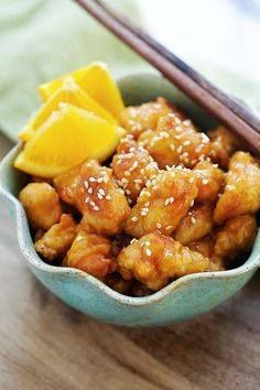 Orange chicken - eas Orange chicken - easy homemade orange...  Orange chicken - eas Orange chicken - easy homemade orange chicken recipe that takes 30 mins to make. Its healthier and much better than Panda Express and Chinese takeout | rasamalaysia.com Recipe : http://ift.tt/1hGiZgA And @ItsNutella  http://ift.tt/2v8iUYW