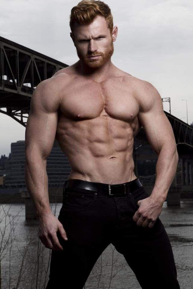 Muscle dude posing