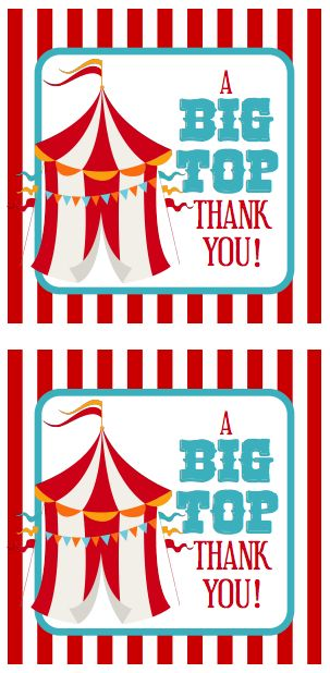 Circus Party Favor Tags | Free Printables