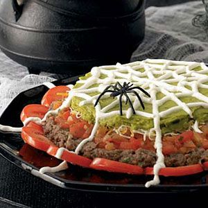 Spiderweb Nacho Spread Recipe for Halloween at Woman's Day - Woman's Day