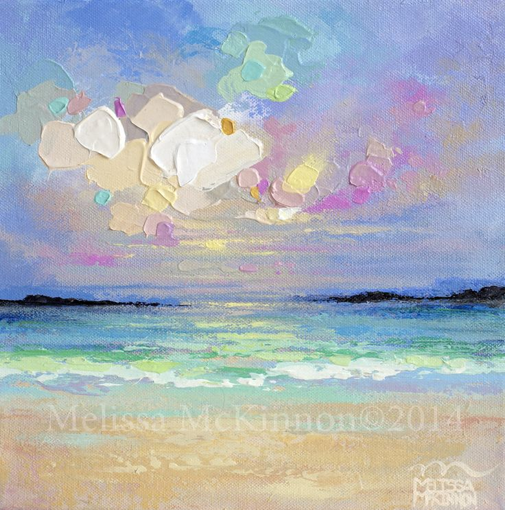 "SOLD  ""Viña del Mar – Study I"" 10″x10"" Acrylic Painting on Canvas"