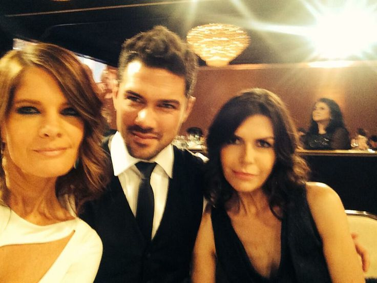 Michelle Stafford, Ryan Paevey, and Finola Hughes