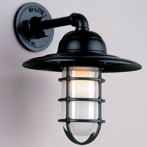 Hi-Lite Modern Caged Exterior Wall Light sold at Signature Hardware for $153