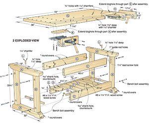 Traditional Workbench Woodworking Plan http://www.woodmagazine.com/woodworking-plans/woodshop-projects/work-bench/workbench-plans/