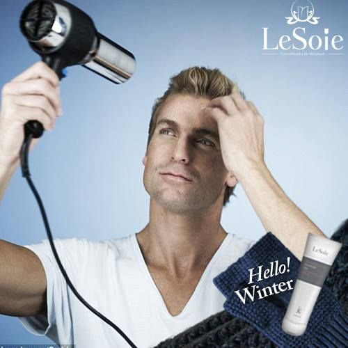 Lesoie takes care of all the family that is why our advice for men to day is never leave the house with wet hair, especially in cold weather, blow-drying your hair thoroughly before leaving ensures your style stays put for longer لان ليسوى تهتم بكل العائلة, فنصائحها لا تقتصر على النساء فقط, لذلك نصيحتنا اليوم للرجال هي الا تخرجوا من منزلكم بدون تجفيف شعركم لان تجفيفه سيساعد على الحفاظ على شكله مدة اطول