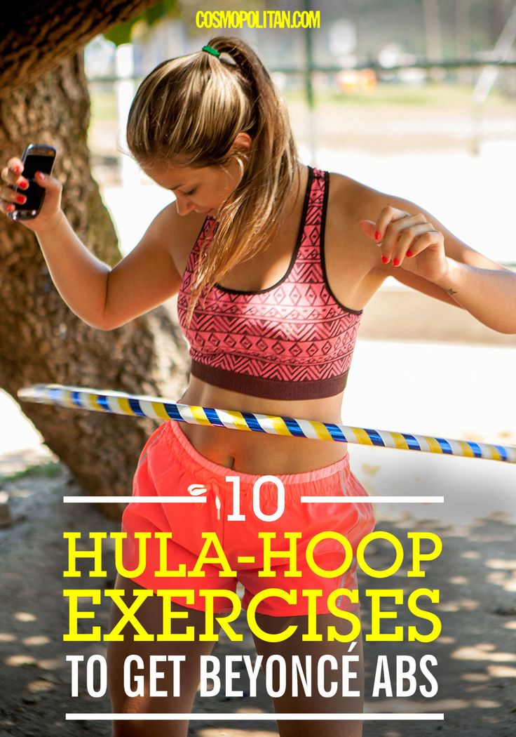 FUN HULA-HOOP EXERCISES: The exercises, all performed with hula hoops, are supposed to strengthen the core — just do these few moves in rapid succession, you'll have a pretty fun routine. Here you'll find all the moves, instructional gifs to teach you how to do each move, and more fitness tips!