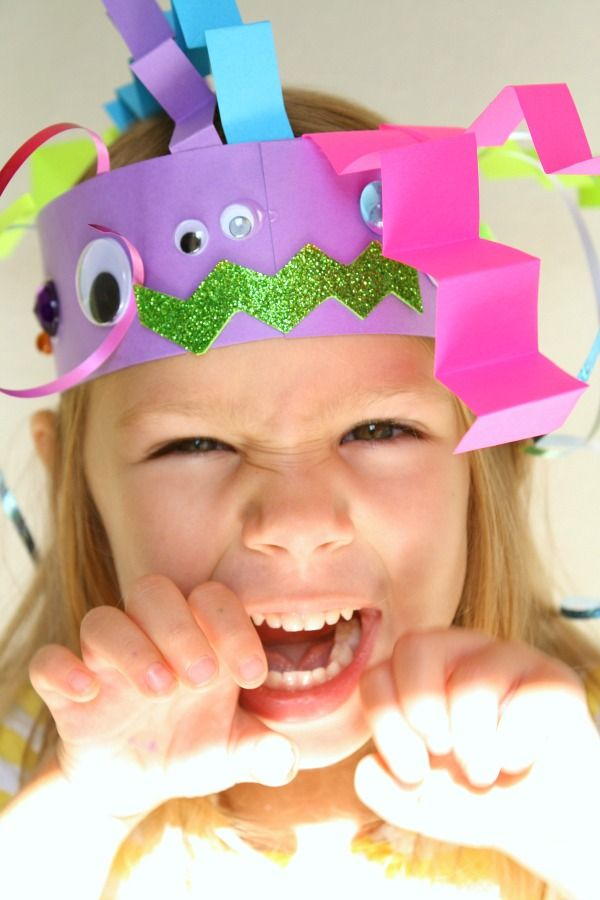 Create silly monsters and get lots of giggles with this fun headband monster craft for kids.