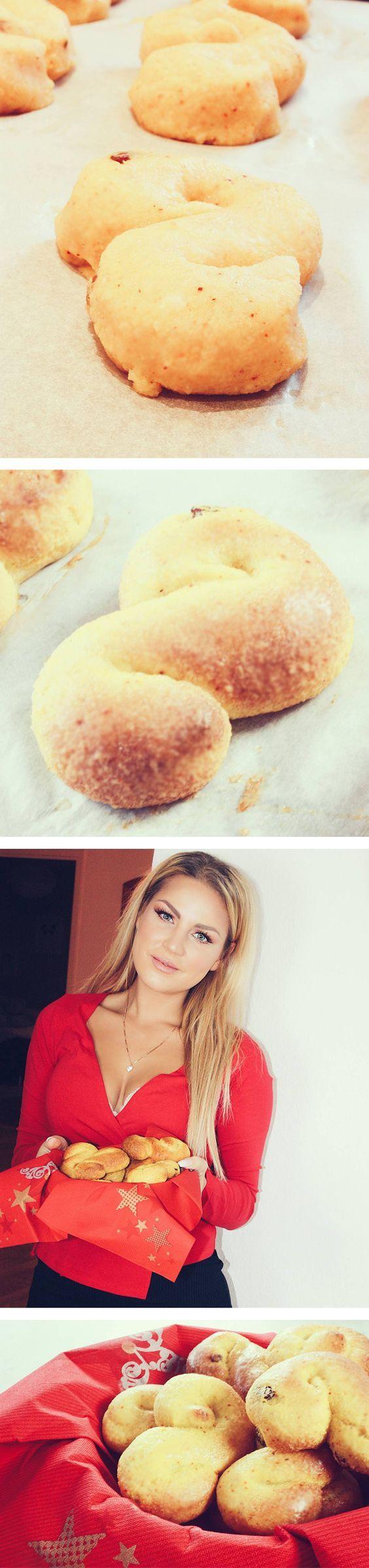Lussekatter utan vetemjöl, socker och smör. #glutenfri #sockerfri #mjölkfri #utansmör #lussekatter #saffransbullar #recipe #recept #sweden #swedishchristmas #vegan #advent