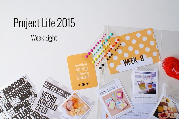 Amca Design: PROJECT LIFE - Year 2015 Week eight