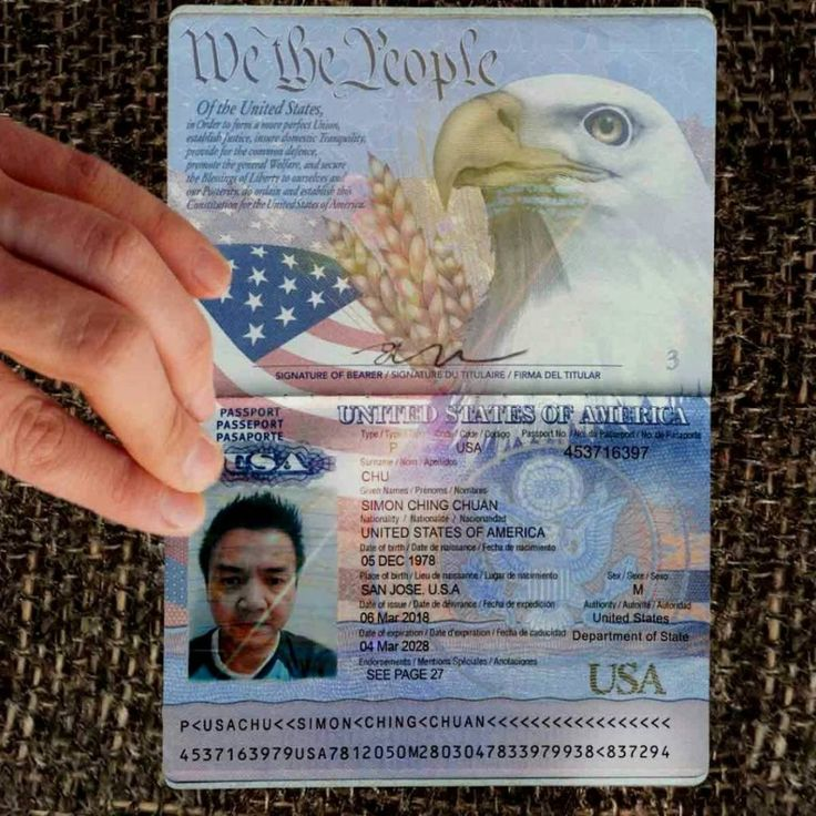 Us Passport Photo Template. Buy Registered Real/Fake