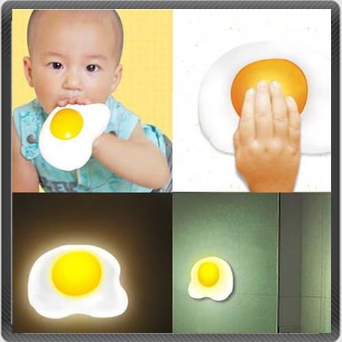 The Fried Egg Night Light | 41 Coolest Night Lights To Buy Or DIY