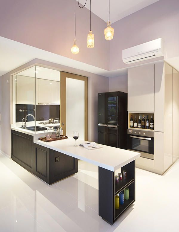 Good Wet/Dry Kitchen Idea. Love The Feel Of This Design As Well! | Home |  Pinterest | Dining Area, Squares And Kitchens