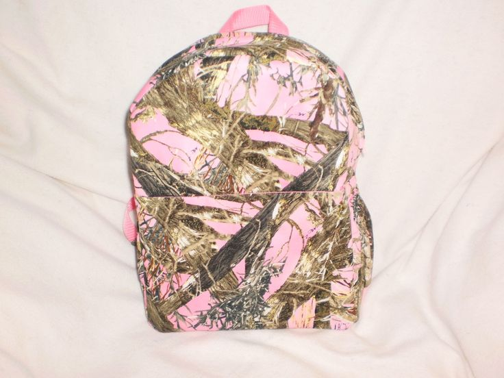Child's pink camo backpack by bagsbyjune on Etsy