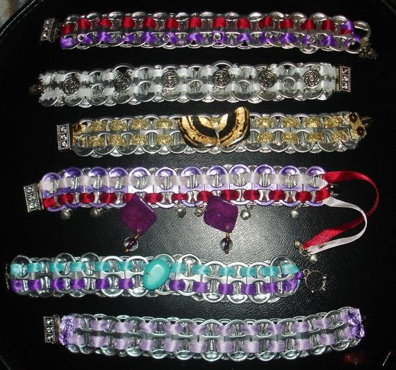 Unusual and Unique Pull Tab Bracelets by Tarkau on Etsy, $15.00
