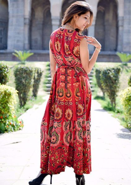 Ethical Dresses – Women Ethnic Boho Cotton Gypsy Long Mandala Dress – a unique product by IndianCraftPalace on DaWanda