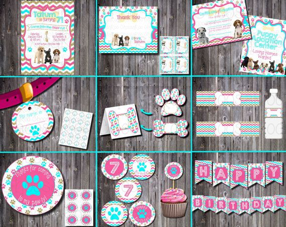 DOG/PUPPY Pet Adoption Party Printable Package by ChoosaRoo