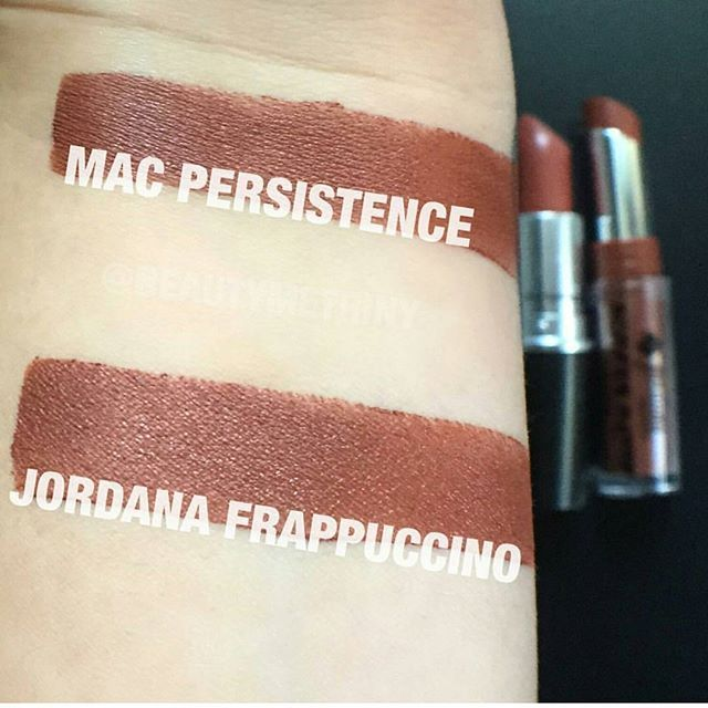 "MAC ""Persistence"" dupe: Jordana ""Frappuccino""  Pinterest: @framboesablog"