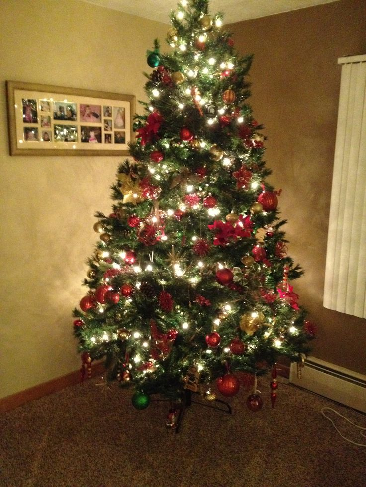 420 best christmas traditional red green and gold images for Green and gold christmas tree
