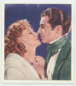 Greta Garbo and Robert Taylor from Camille, 1936. Cigarette Card.