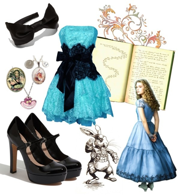 """Halloween Alice in Woderland"" by vanessadu on Polyvore"