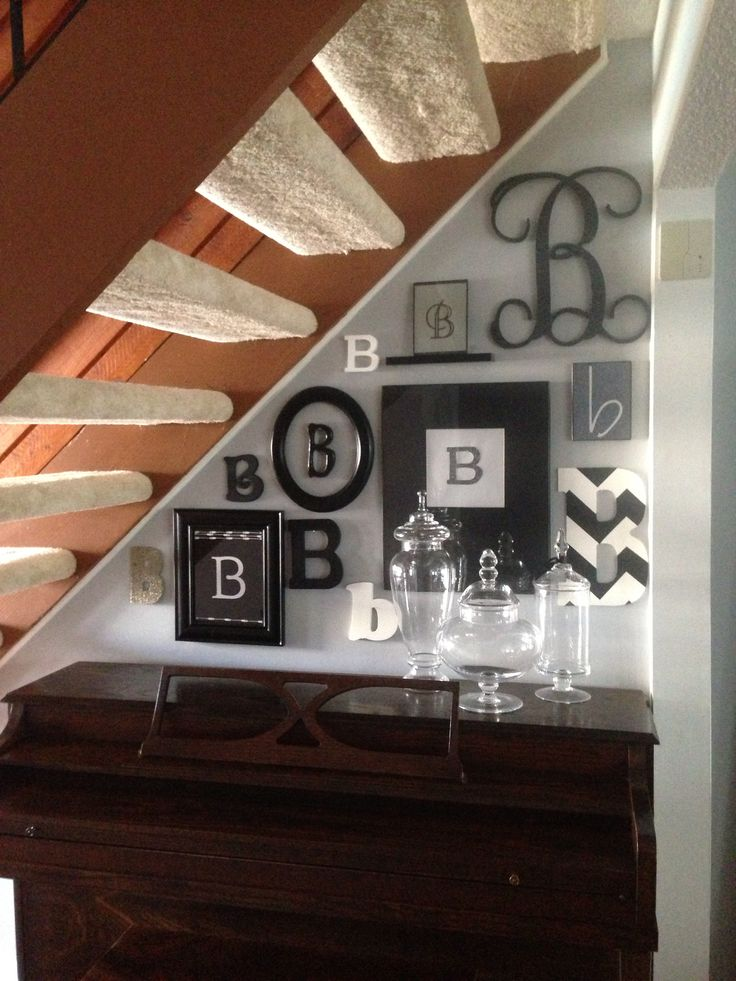 """B"" is for Barnes - monogramed wall art"
