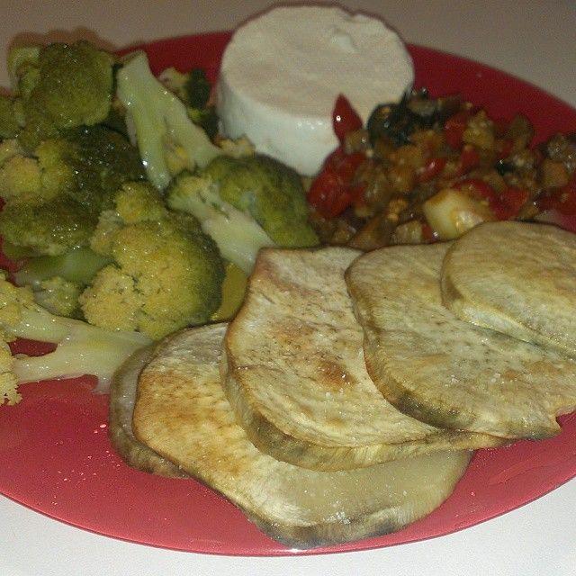 Pranzo fase 2 MinciDélice - Patate Americane, Broccoli, melanzane con pomodorini e primo sale