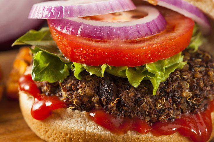 Super Grain Fiber Packed Spicy Black Bean, TVP & Quinoa Burgers