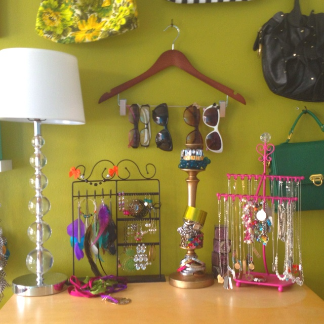 Hanger for glasses and a candlestick for bracelets!
