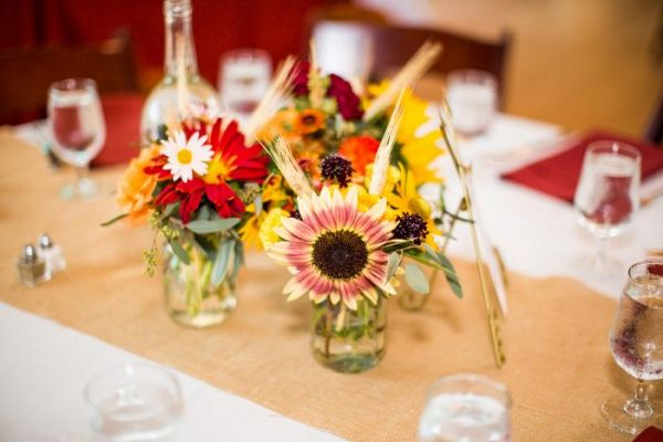 Fall centerpiece    #weddings #weddingideas #aislesociety  #fallwedding