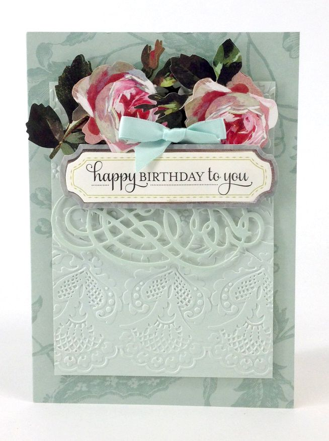 Emboss intricate lace patterns and die cut lovely flourishes with the anna griffin lace trimmings embossing
