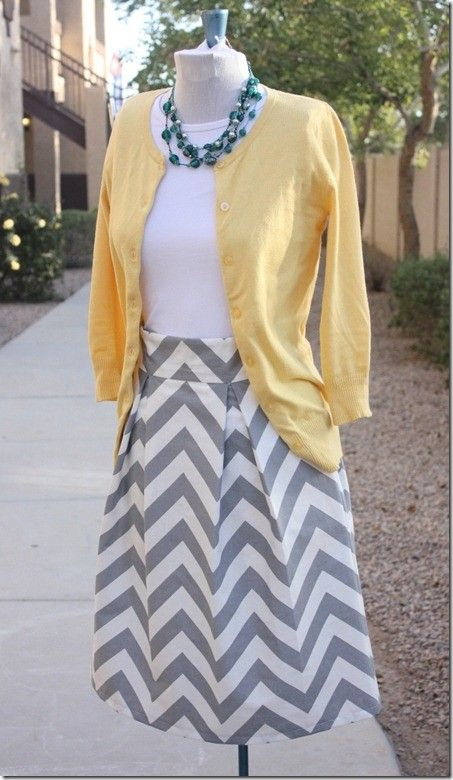 Pleated Chevron Skirt and other cute DIY items. For you Rachel