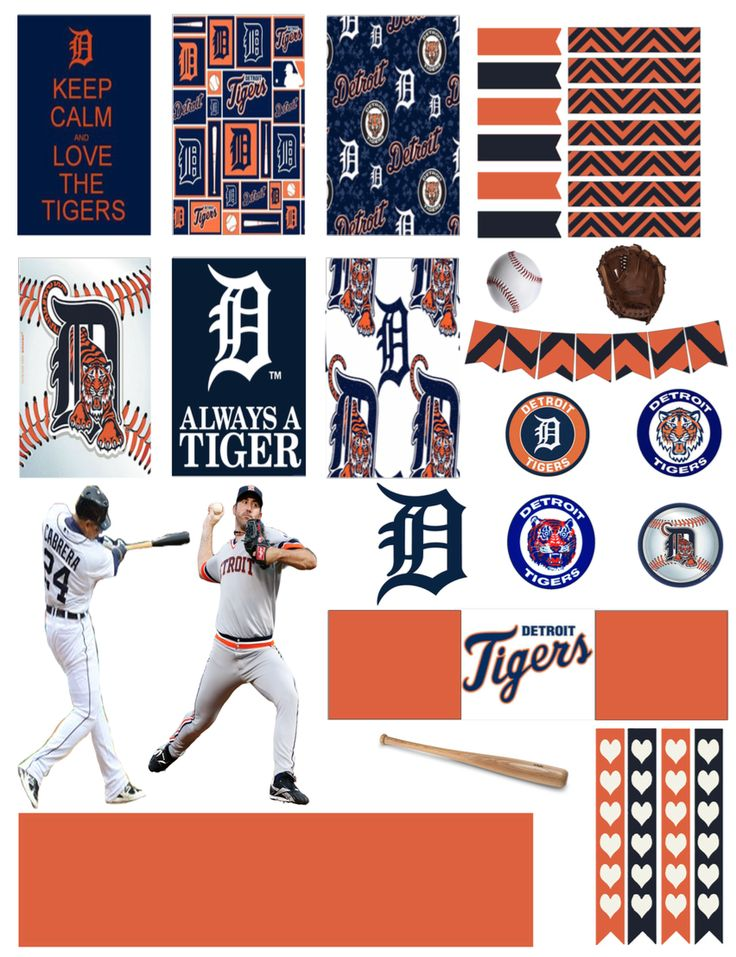 Detroit Tigers Planner Stickers